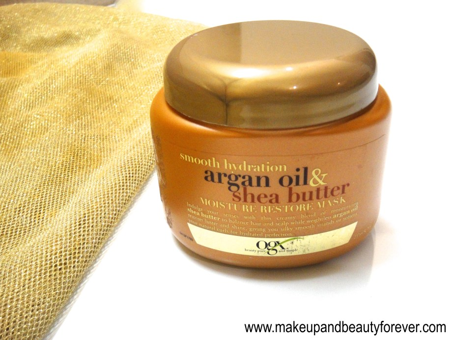 Organix Smooth Hydration Argan Oil and Shea Butter Moisture Restore Mask Review 1