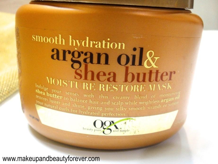 Organix Smooth Hydration Argan Oil and Shea Butter Moisture Restore Mask Review beauty blog