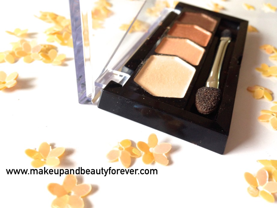 Maybelline Eyestudio Diamond Glow Eye Shadow Quad 01 Copper Brown Review Swatches Price Details Indian Makeup and Beauty Blog
