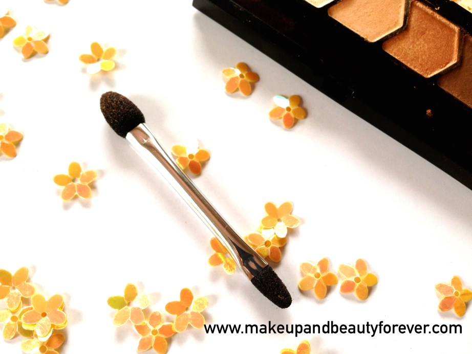 Maybelline Eyestudio Diamond Glow Eye Shadow Quad 01 Copper Brown Review Swatches Price applicator