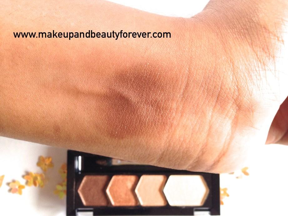 Maybelline Eyestudio Diamond Glow Eye Shadow Quad 01 Copper Brown Swatches