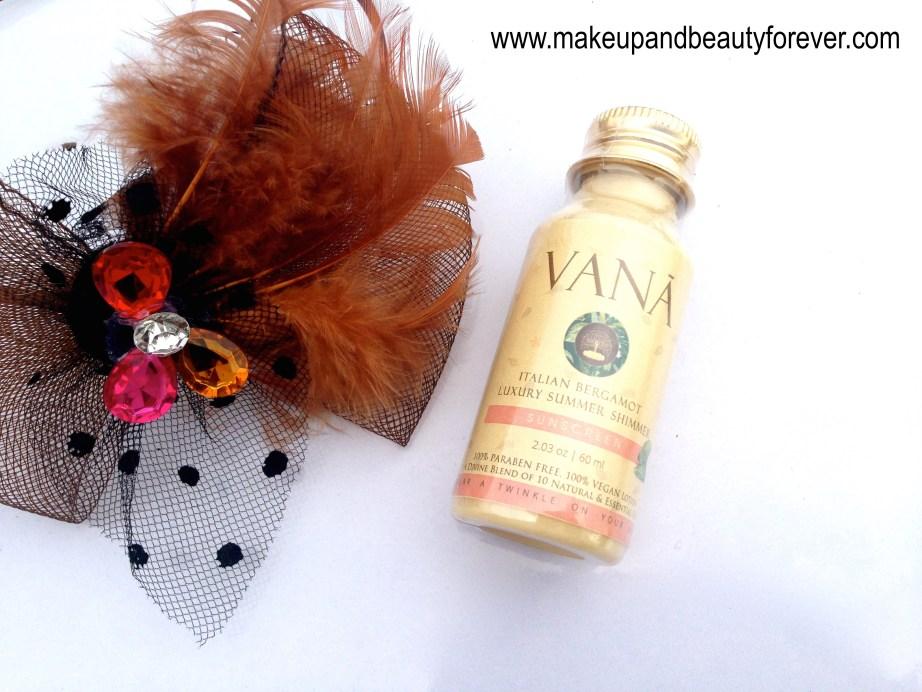 Vana Vidhi Luxury Summer Shimmer Sunscreen review