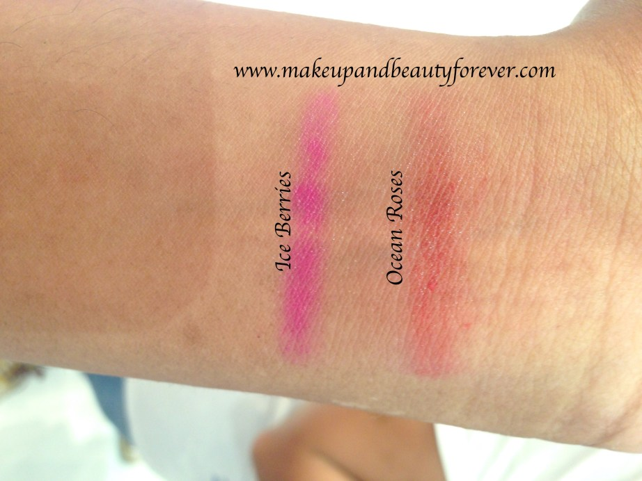 Chambor Happy Hues Moisture Plus Lipstick Ocean Roses Ice Berries Review Shades Swatches Price India summer 2015 India MBF