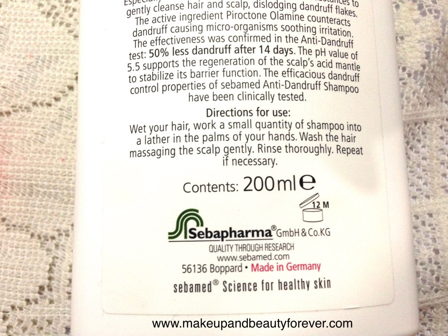 Sebamed Anti Dandruff Shampoo Review 5