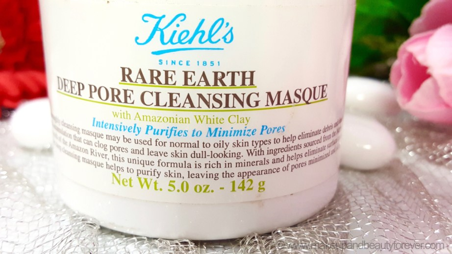 Kiehls Rare Earth Deep Pore Cleansing Masque Review Photos