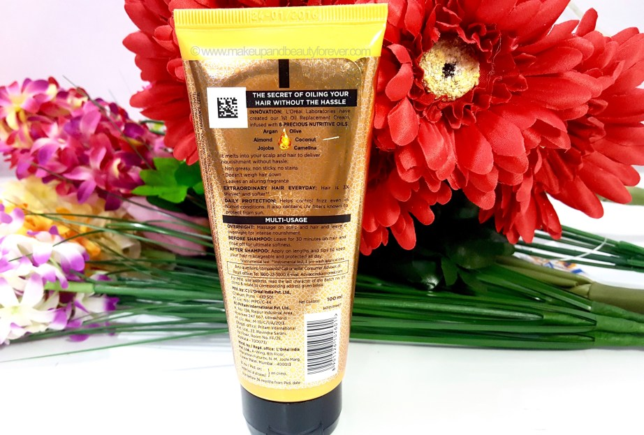 LOreal Paris Hair Expertise 6 Oil Nourish Oil in Cream Oil Replacement Cream Review 4