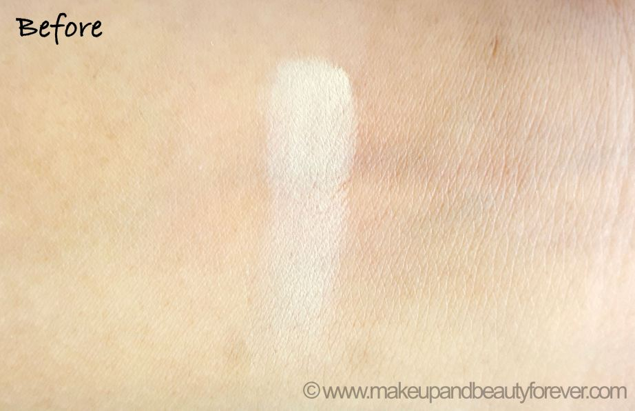 Maybelline White Superfresh 12HR Whitening Perfecting Compact Review Shades Coral Pearl Shell Swatches before