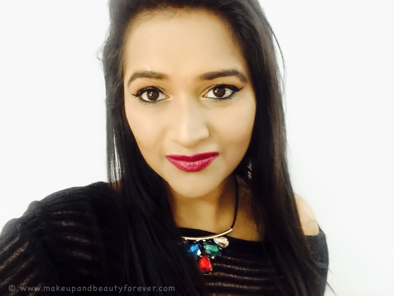 Sugar Cosmetics It's A-Pout Time Vivid Lipstick 01 The Big Bang Berry Review Swatches FOTD Astha MBF Astha Goel Astha Bansal Asthambf