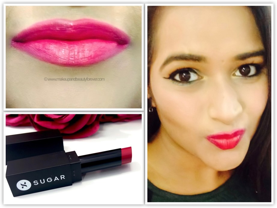 Sugar mad magenta pink pout time vivid lipstick mbf
