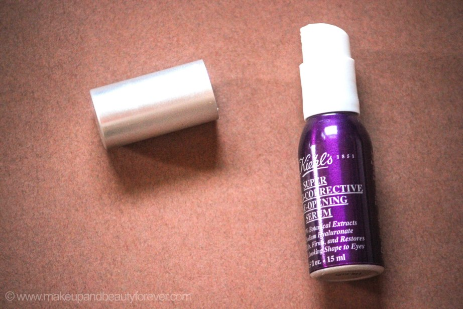 Kiehl's Super Multi Corrective Eye Opening Serum Review MakeupandBeauty Forever