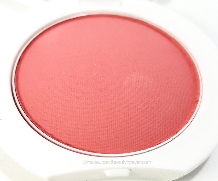 Maybelline Cheeky Glow Blush Fresh Coral Review close up
