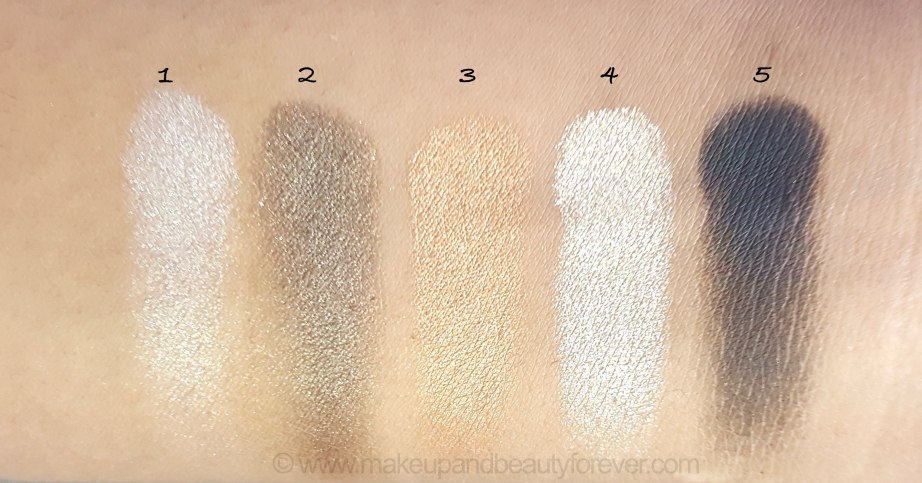 Maybelline Color Sensational Diamonds EyeShadow Palette Swatches