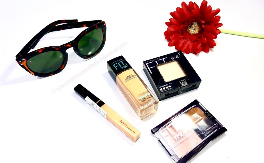 Maybelline FIT me Range Matte + Poreless Foundation Pressed Powder Concealer Blush Preview Shades Price Photos