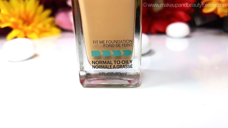 Maybelline Fit Me Matte Poreless Foundation Review Shades Swatches Normal to Oily skin