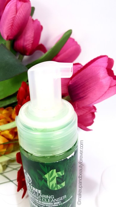 The Body Shop Tea Tree Skin Clearing Foaming Cleanser Review beauty blog