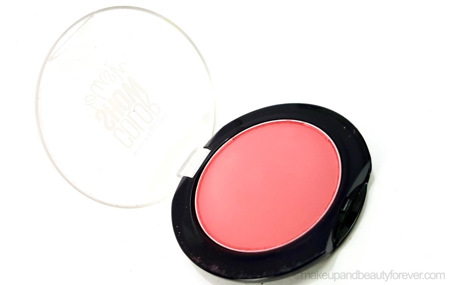 Maybelline ColorShow Blush Fresh Coral Review, Swatches