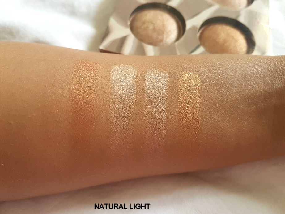 Bh Cosmetics Wild and Radiant Palette Review Swatches hand