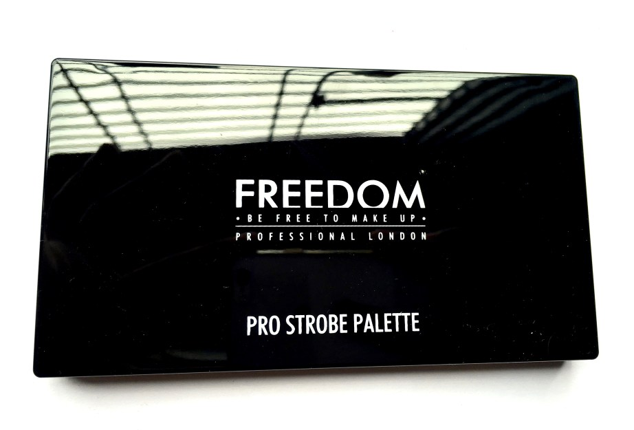 Freedom Pro Strobe Highlight and Contour Palette With Brush Review Swatches front