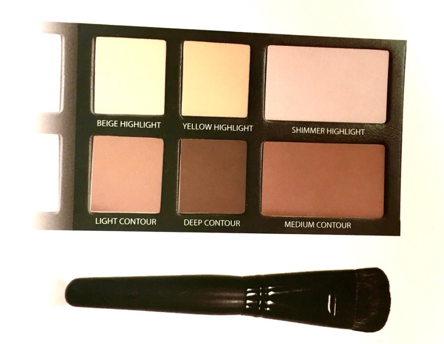 Freedom Pro Strobe Highlight and Contour Palette With Brush Review Swatches mbf blog