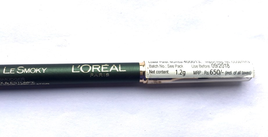 L'Oreal Color Riche Le Smoky Pencil Eyeliner Antique Green 209 Review Swatches price online