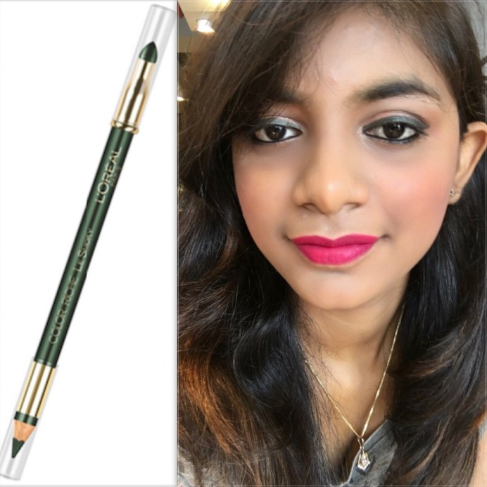 L'Oreal Color Riche Le Smoky Pencil Eyeliner Antique Green 209 Review Swatches