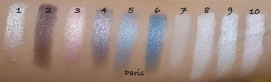 Makeup Revolution I ♡ MAKEUP I ♡ OBSESSION Eye Shadow Palettes Paris shades Review Swatches