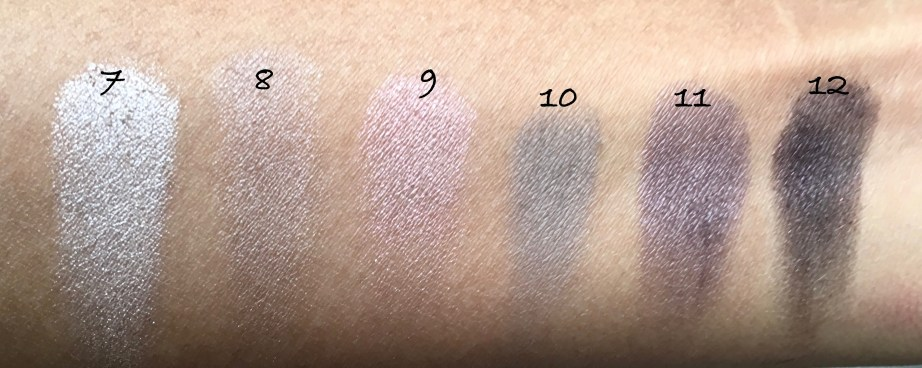 Maybelline The Blushed Nudes Palette Review Swatches Makeup shades 7 to 12