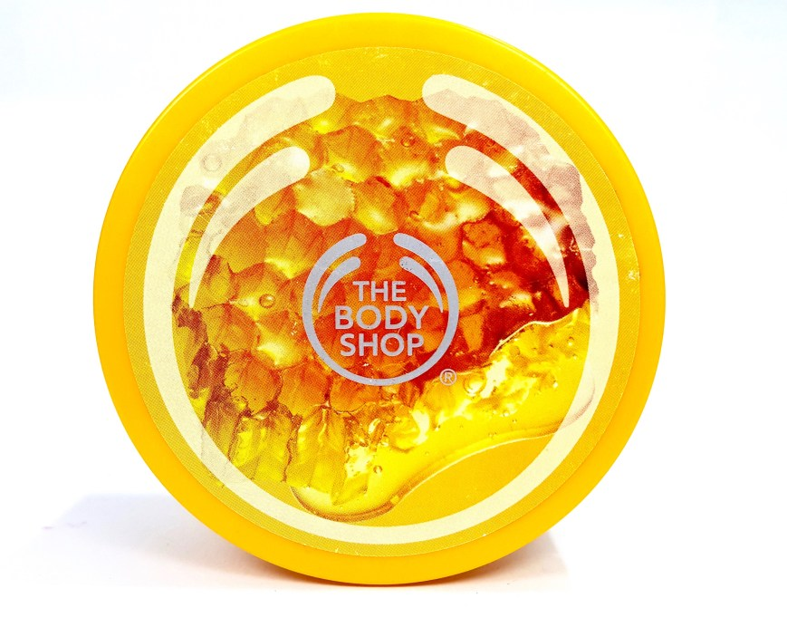 The Body Shop Honeymania Cream Body Scrub Review mbf blog
