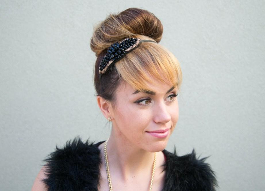 Top hair bun style makeup and beauty blog