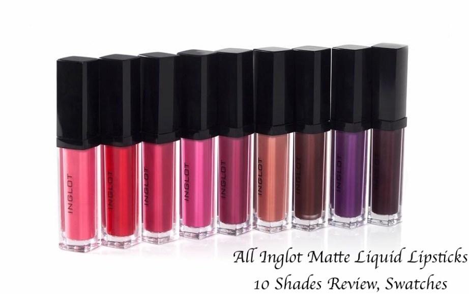 All Inglot HD Lip Tint Matte Liquid Lipsticks 10 Shades Review Swatches Shade No. 20, 18, 19, 12, 11, 15, 13, 14, 16, 17 blog