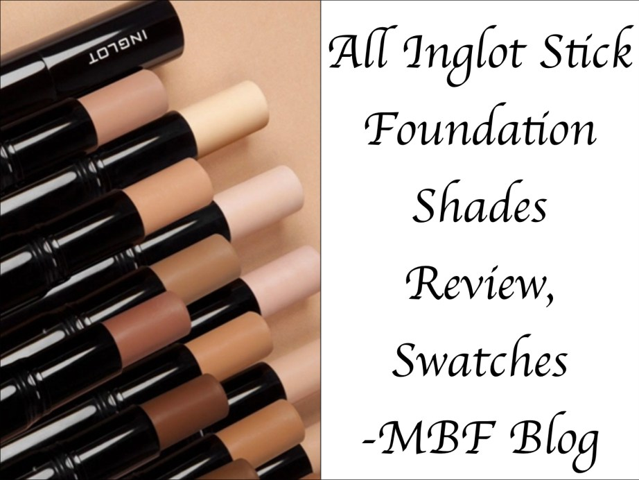 All Inglot Stick Foundation Shades Review Swatches 101 102 103 104 105 106 107 108 109 110 111 112 113 114 115 116 117