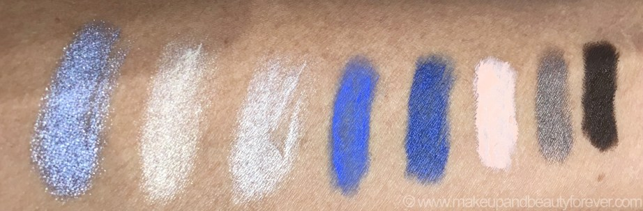 All MAC Pro Longwear Waterproof Colour Stick Eye Shadows Shades Review Swatches Iris Eyes Cremefilled Bleached Out Beige Frisky Blue Royally Sweet Praline Soft Steel Bitter Clove