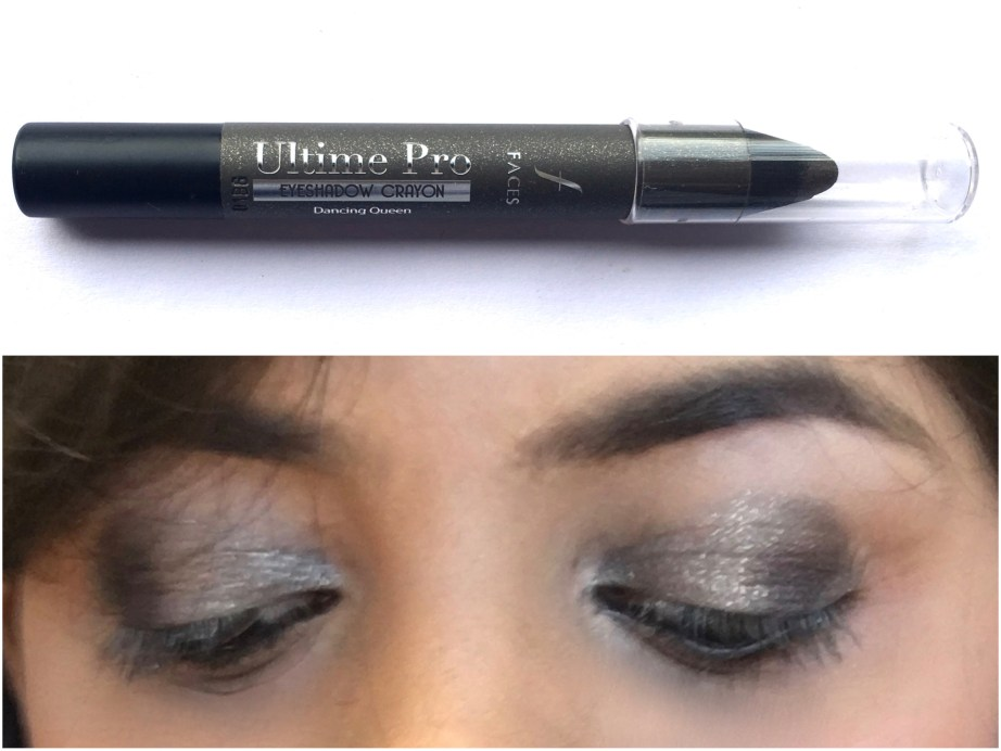 Faces Ultime Pro Eyeshadow Crayon Dancing Queen 01 Review Swatches Eye makeup look