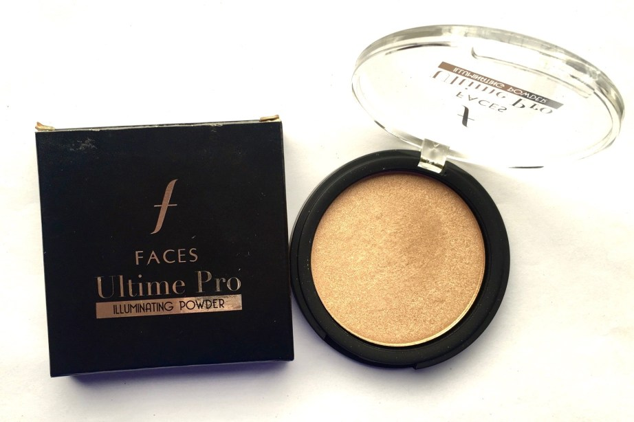 Faces Ultime Pro Illuminating Powder Highlighter Review Swatch