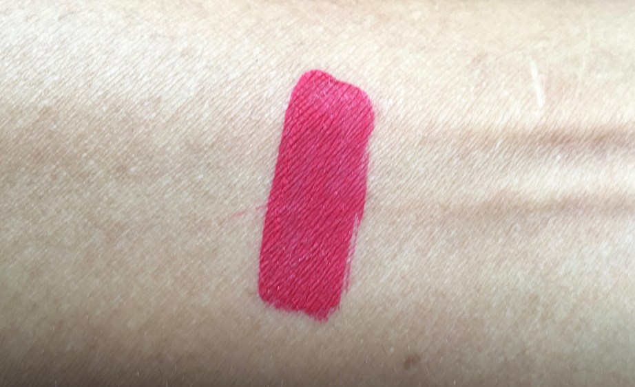 Inglot HD Lip Tint Matte 12 Review Swatches hand