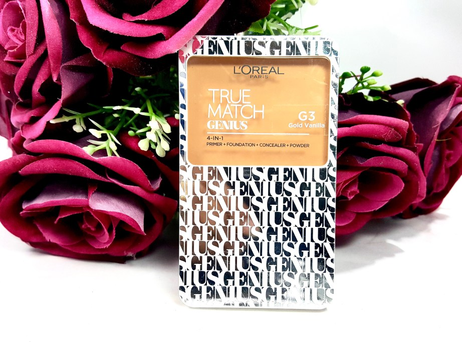 L'Oreal True Match Genius 4-In-1 Compact Foundation Review Swatches front