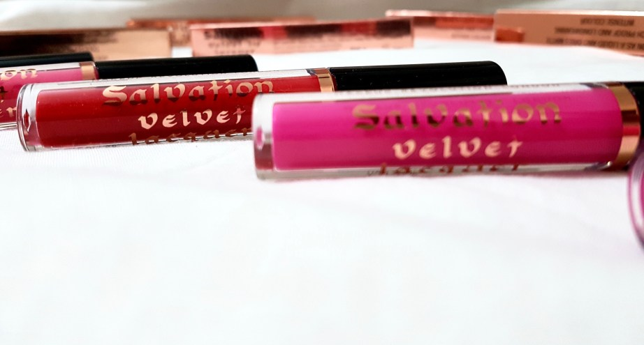 Makeup Revolution Salvation Velvet liquid lipstick Shades Review Swatches fall in love Keep flying Keep crying Keep trying took my love Keep lying I believe