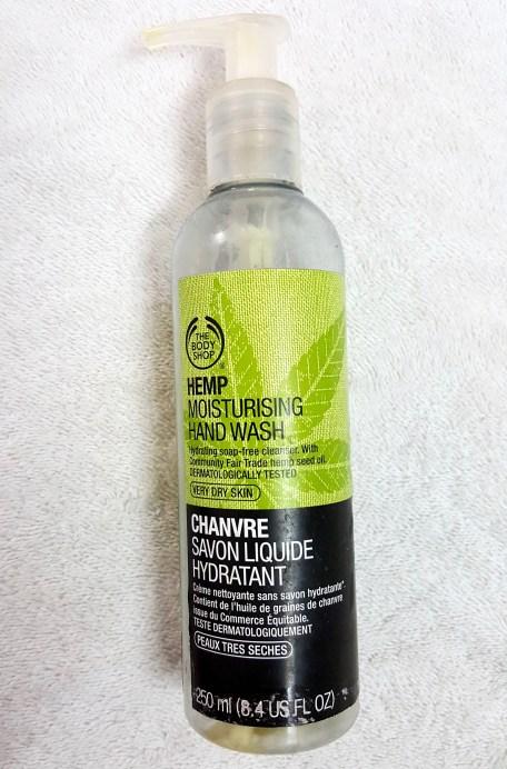 The Body Shop Hemp Moisturizing Hand Wash Review bottle