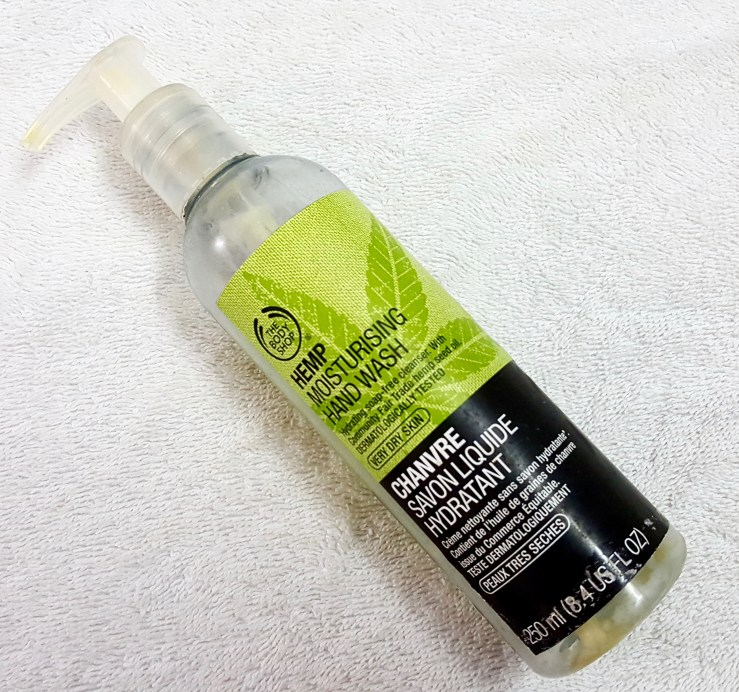 The Body Shop Hemp Moisturizing Hand Wash Review