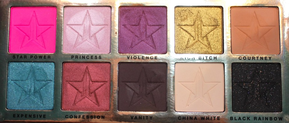 Jeffree Star Beauty Killer Palette Review Swatches all shades focus