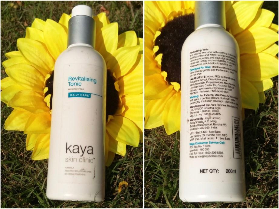 Kaya Revitalizing Tonic Skin Toner Review MBF Blog