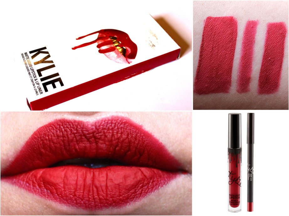 Kylie Jenner Lip Kit Mary Jo K Review Swatches on lips