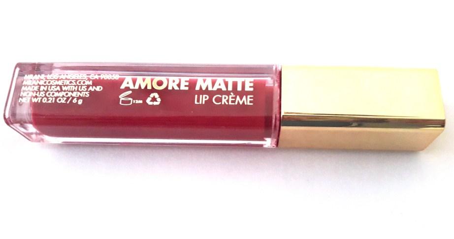 Milani Amore Matte Lip Creme Gorgeous Review Swatches info