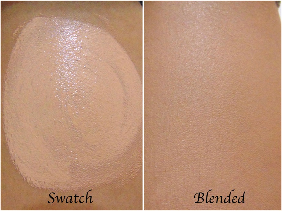Oriflame The One Everlasting Foundation Review Swatches before after