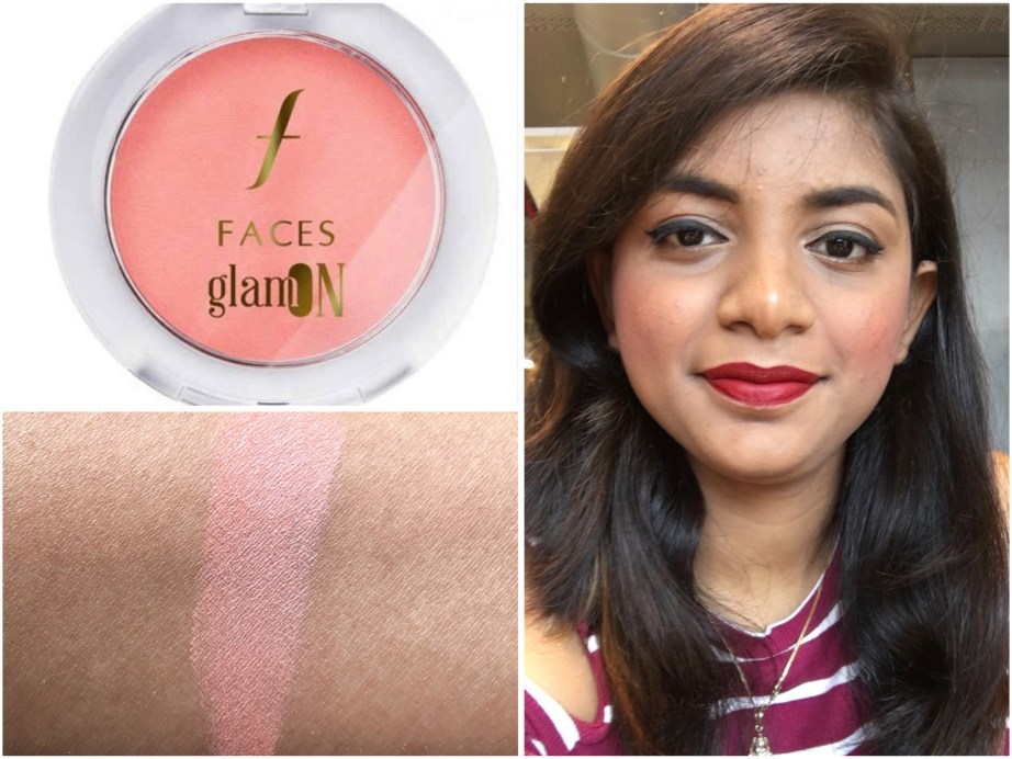 Faces Glam On Perfect Blush Cocktail Peach Review Swatches