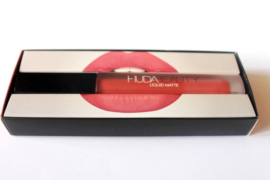 Huda Beauty Liquid Matte Lipstick Icon Review MBF