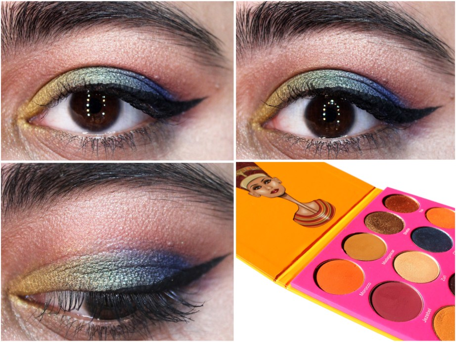 Juvia's Place Nubian 2 Yellow Eye Shadow Palette Review Swatches MBF Makeup Looks