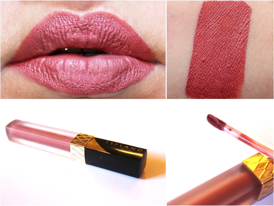 Lipland Matte Liquid Lipstick Baked by Amrezy Review Swatches on LIps MBF Blog