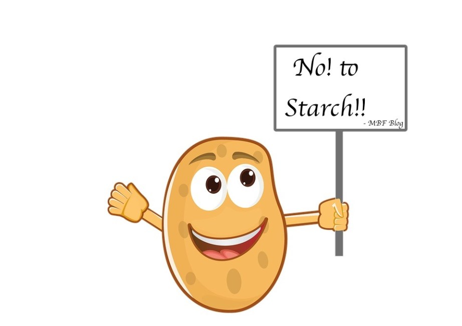 Say No to Starch potato with Placard
