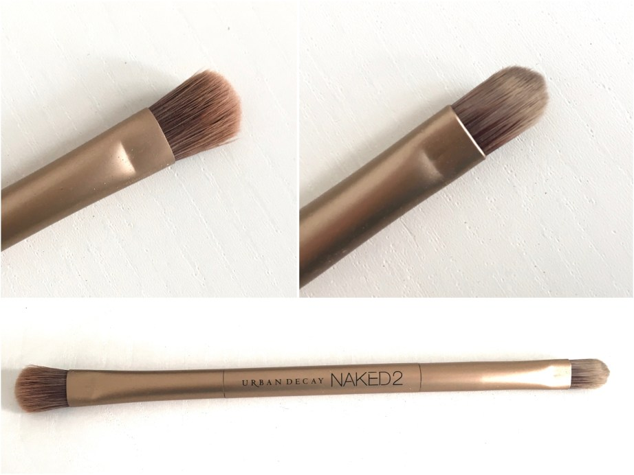 Urban Decay Naked 2 Eyeshadow Palette brush Review Swatches